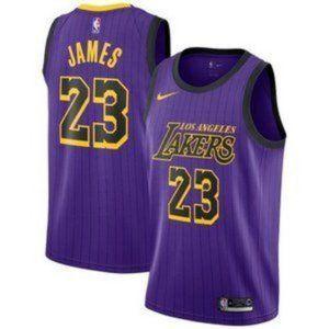 Los Angeles Lakers LeBron James Purple City Jersey